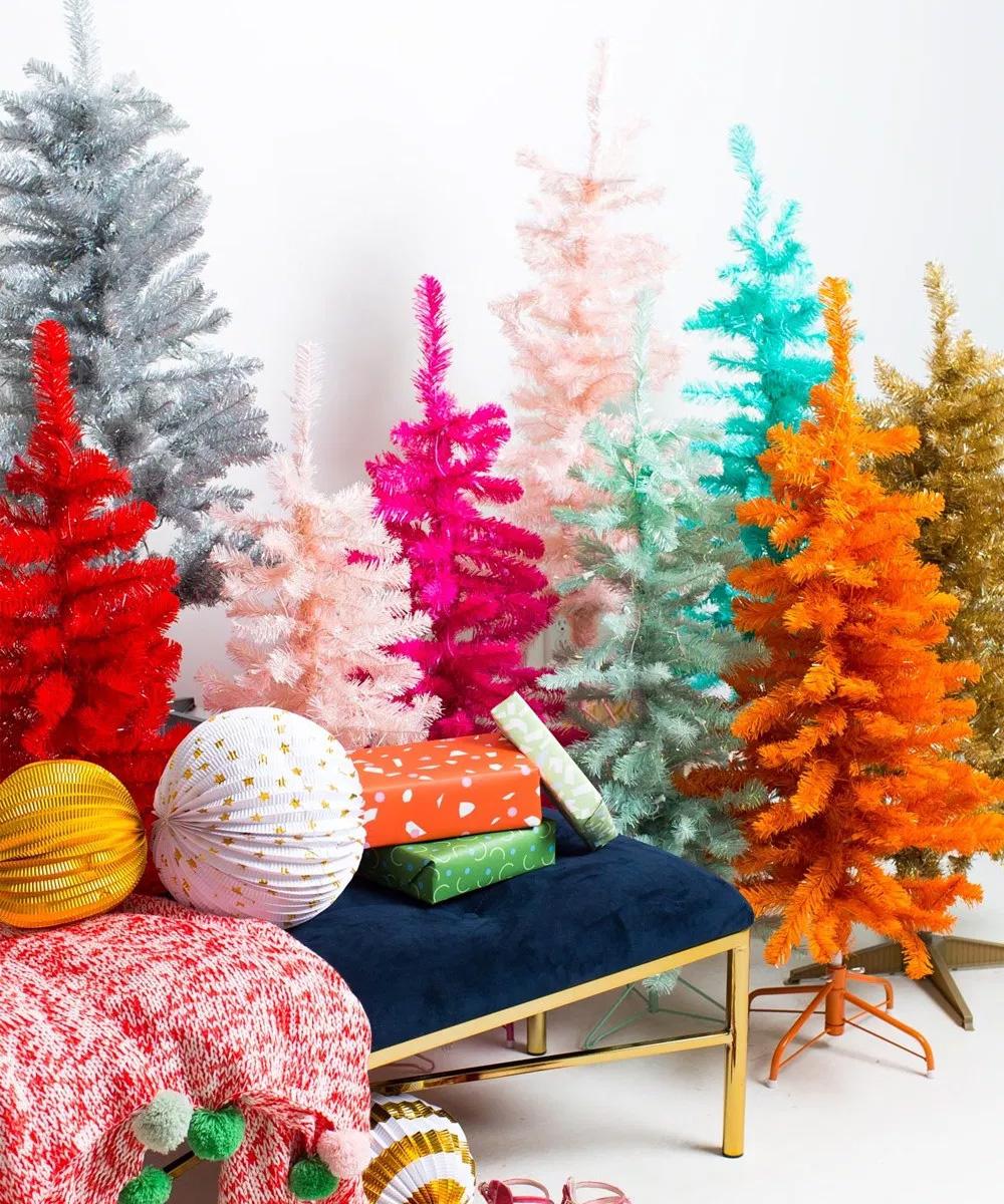 Áboles de navidad de colores