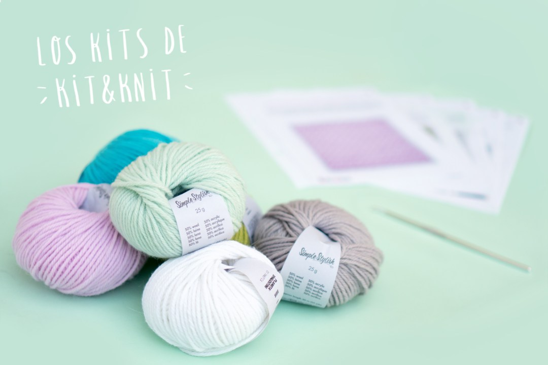 "Reseña de los kits de Knit&Knit, visto en ""I am a Mess Blog"""