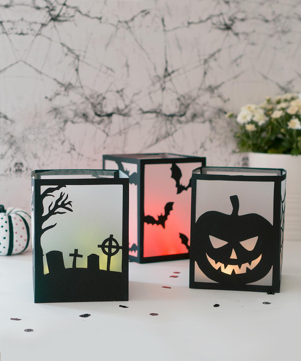 DIY: Farolillos de Halloween fáciles con plantilla