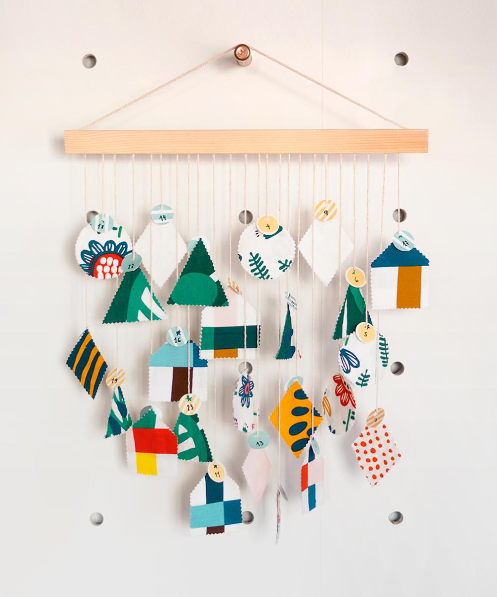 Paso a paso para hacer este Calendario de Adviento de tela, sin coser