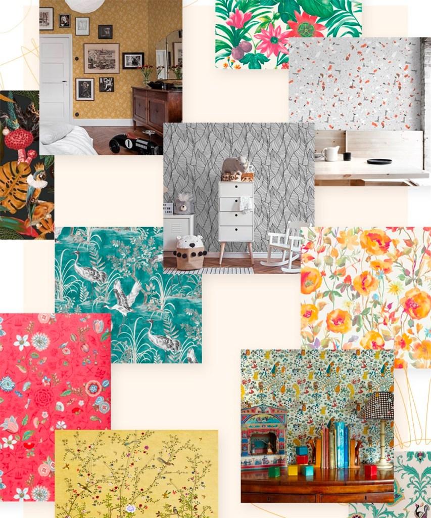 12 sitios para comprar papel pintado y vinilo