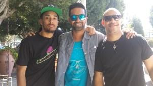Ajay Relan with volunteers
