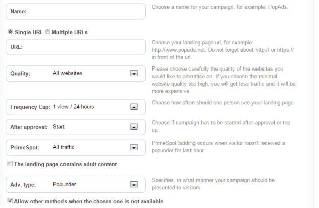 , [GUIDE] How to Setup a Campaign on Popads