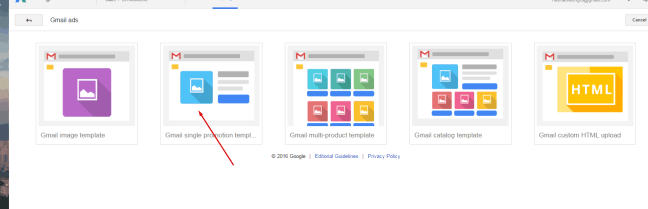 , How to create an ad inside Google's gmail