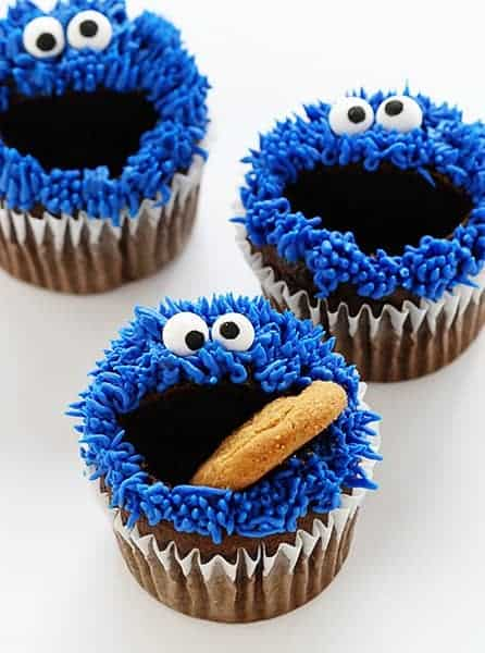 Cookie Monster Cupcakes I Am Baker