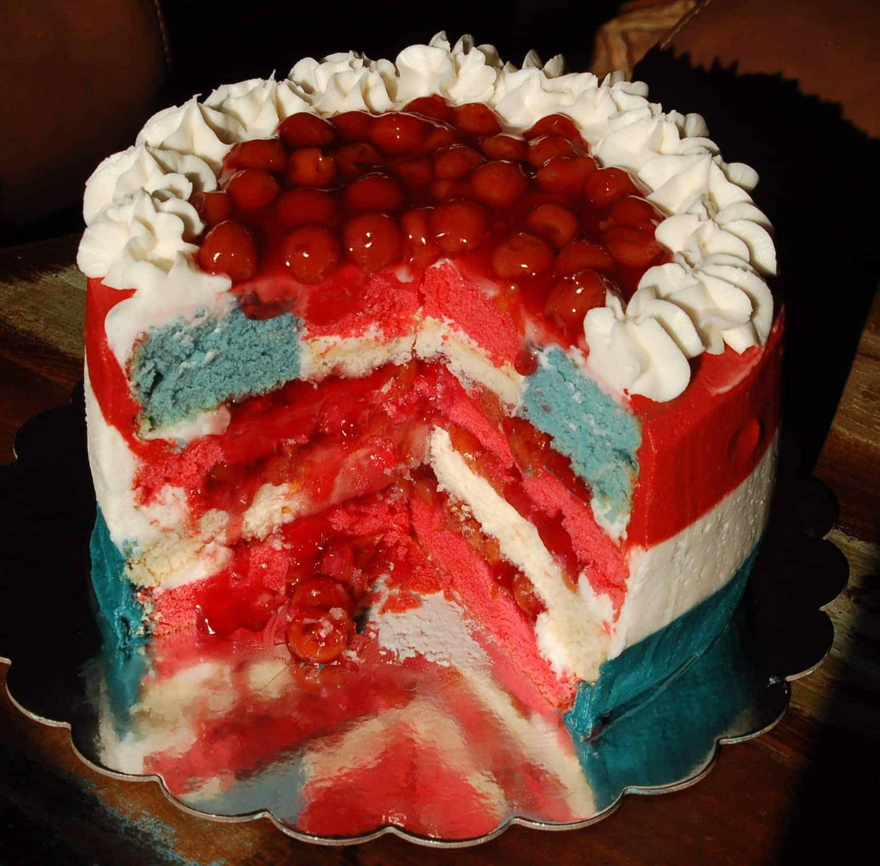 American Flag Surprise Inside Cake Dairy Free I Am Baker