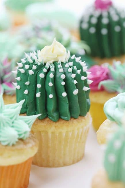 How to make a Barrel Cactus out of buttercream!