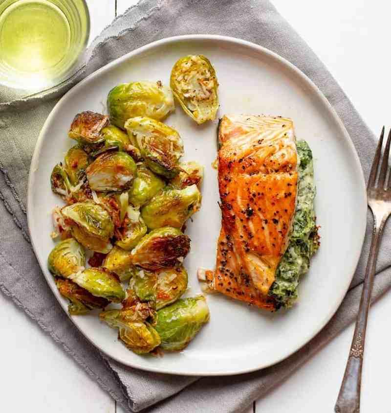 Easy Spinach Stuffed Salmon