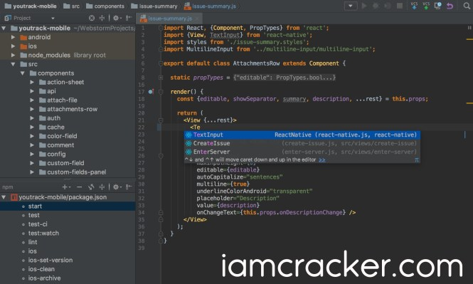 WebStorm 2018.1.5 Crack Full License key [Keygen]