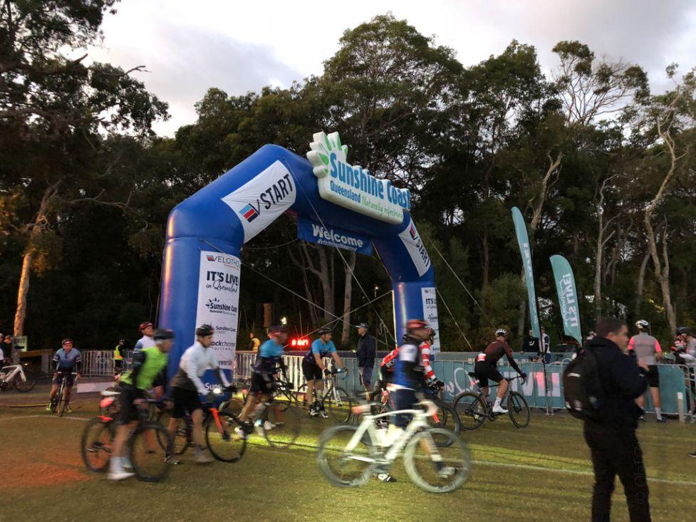 Startlinie der 3. Etappe des Velothon Sunshine Coast Australien