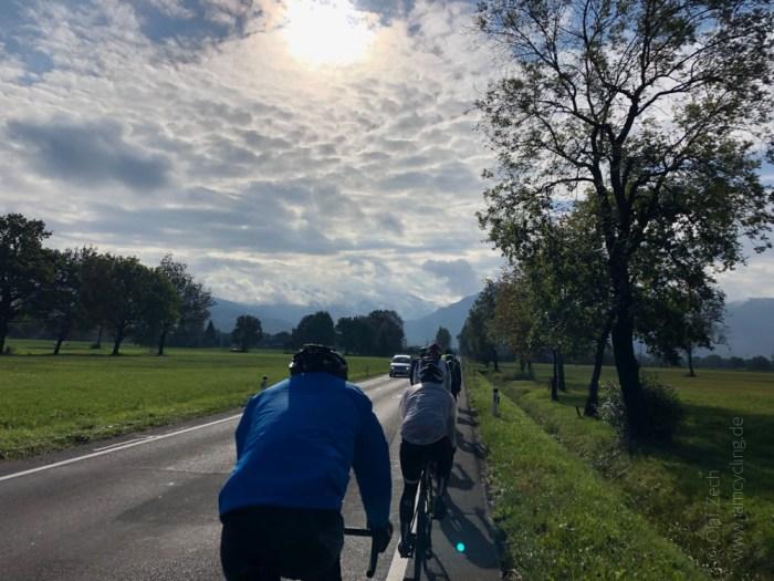 Rennrad Saisonfinale Bodensee: Unterwegs