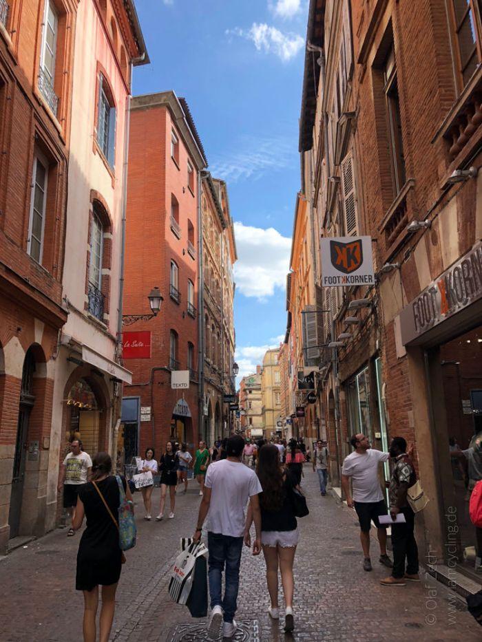 "Rennradreise ""Pyrenäen-Klassiker"" - Rue de Saint-Rome in Toulouse"