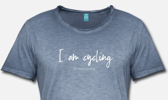 T-Shirt I am cycling from the new Shop