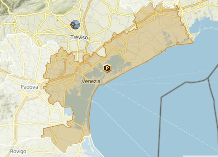 """Die Region """"Venedig"""" bei Komoot"""