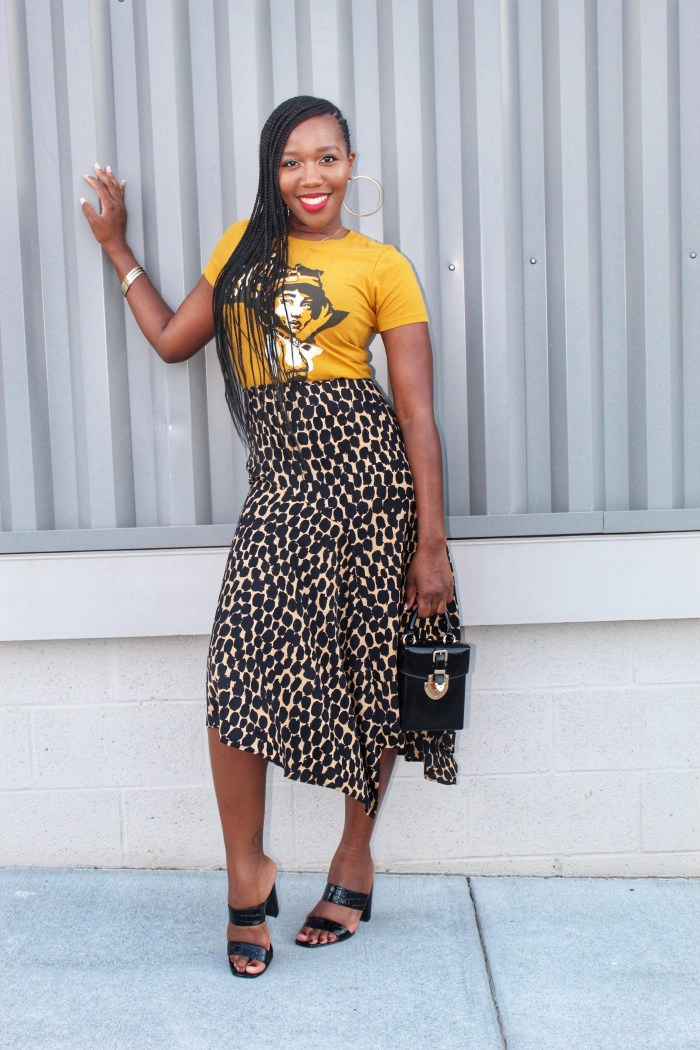 This Leopard Print Skirt Is Super Versatile