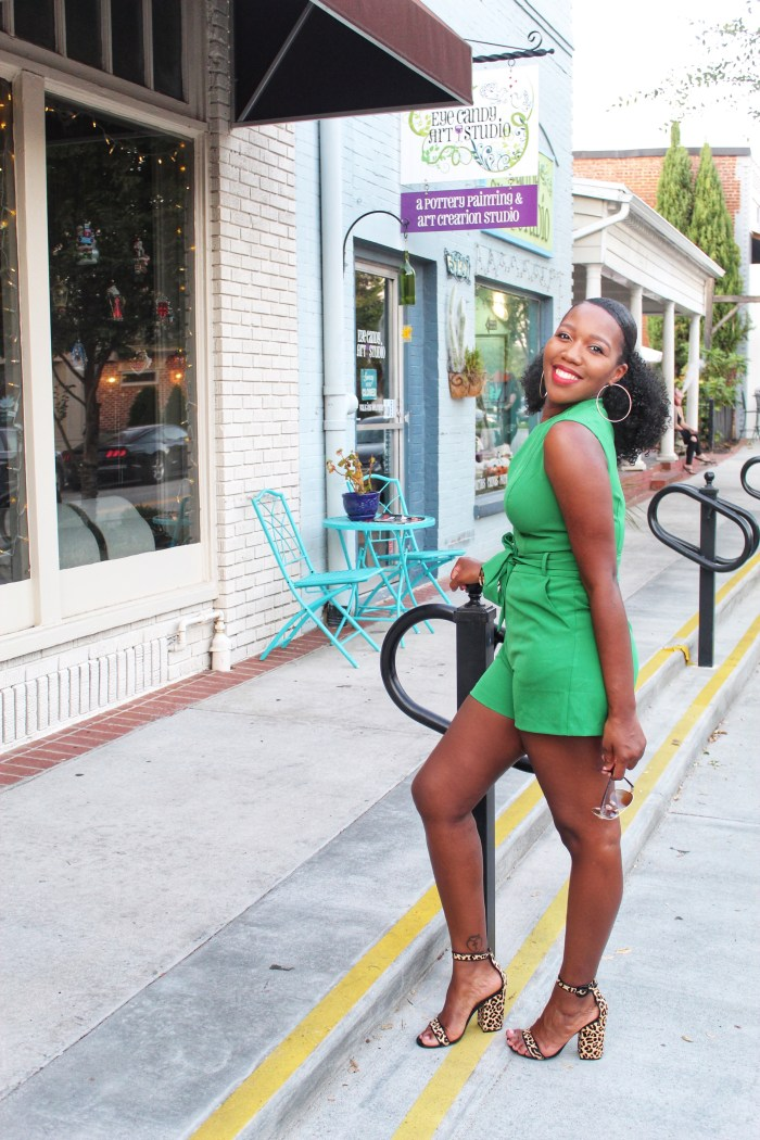 Green Romper – New York & Company Style Challenge