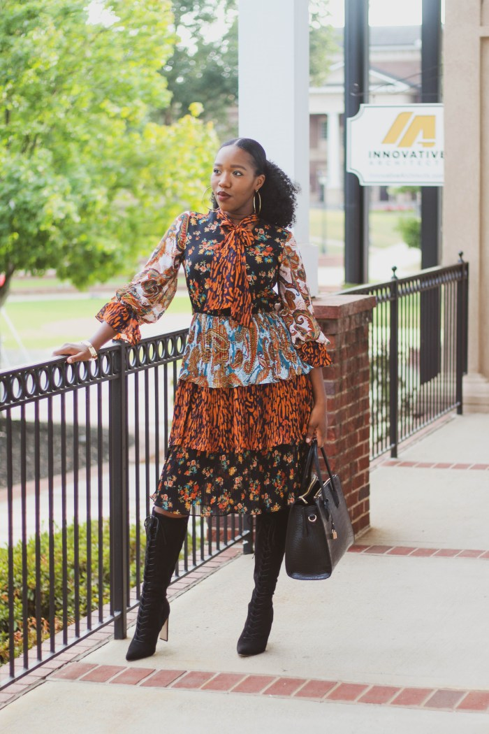 Mixed Print Dress – New York & Company Style Challenge