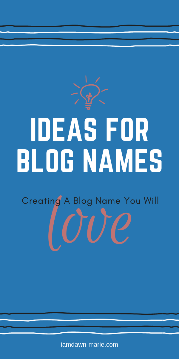 ideas for blog names