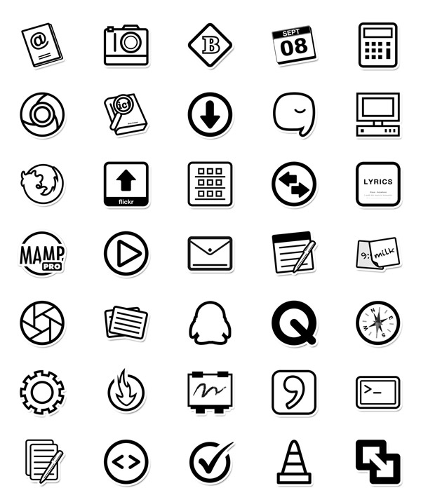 25 Mac Icon sets for OS X and Web Apps for You