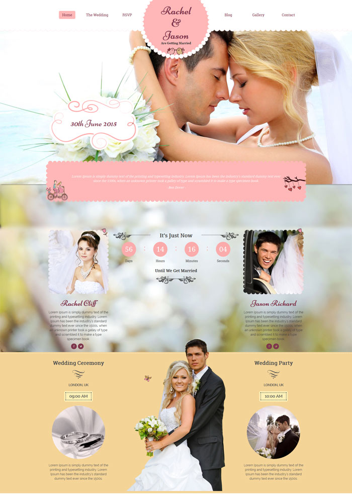15  Best Wedding Website Design Templates