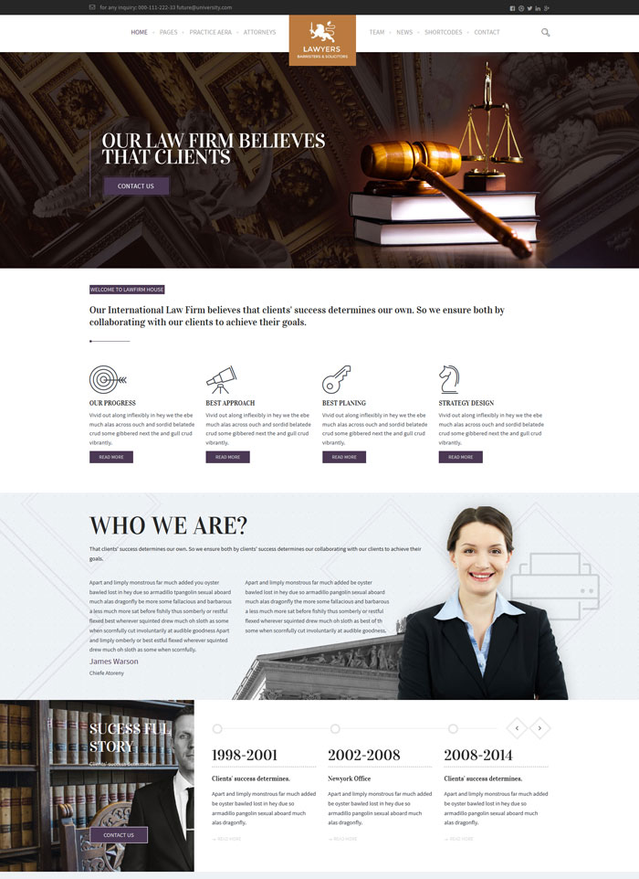 10 Most Excellent Attorney And Lawyer Wordpress Themes