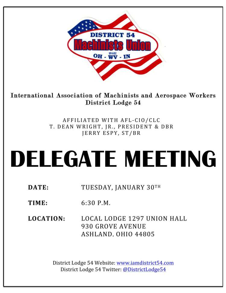Delegate Meeting - January 2018-1