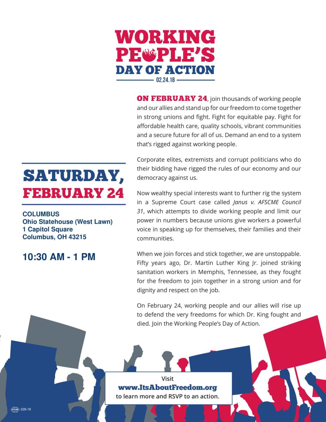 Working People's Day of Action Flyer