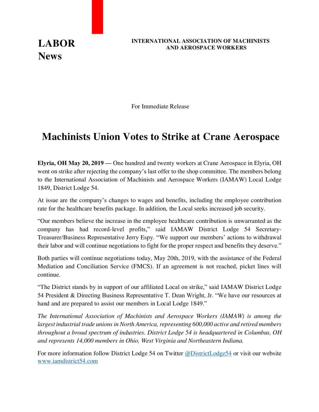 IAM LL1849_DL54_Crane Aerospace_Strike_Press Release-1