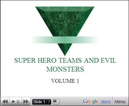 Super Hero presentation