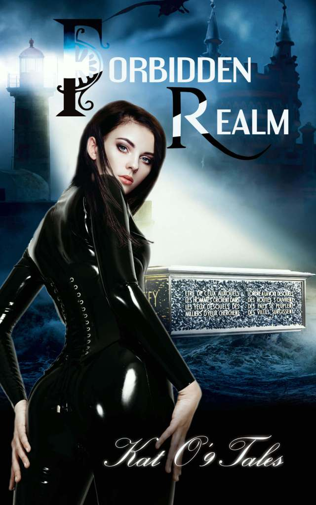 Forbidden Realm IamGoneGirl Designs intense photomanipulation beautiful woman body in black latex suit light shining in coffin