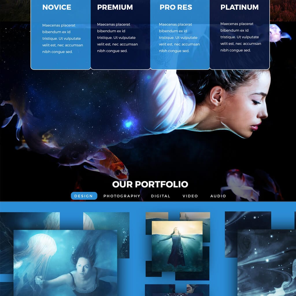 portfolio premium iamgonegirldesigns website design beautiful underwater