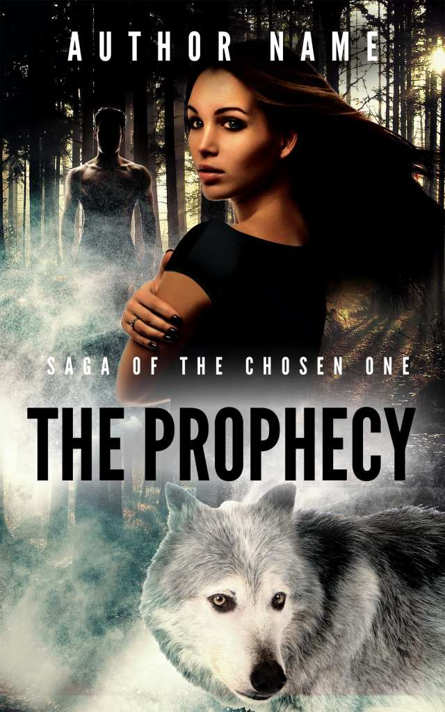 The Prophecy Saga of the Chosen One Professional Premade Supernatural Fantasy ebook cover design.