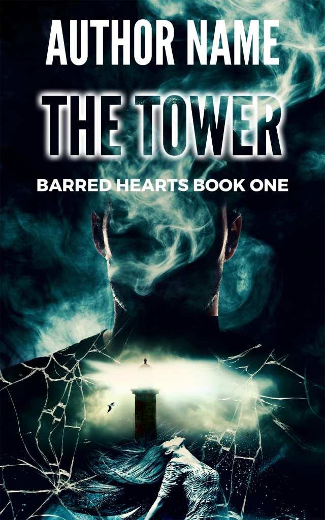 The Tower Dark Post-Apocalyptic Sci fi Premade Book Cover Design!
