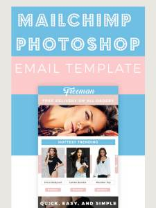 mailchimp photoshop freeman fashion models pink blue GoneGirl Designs