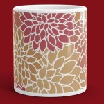 Abstract Leafy Multi-color Mug