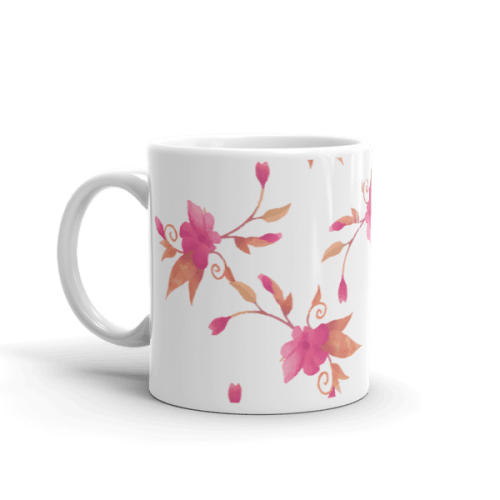 Colorful Pink Leaves Coffee Mug