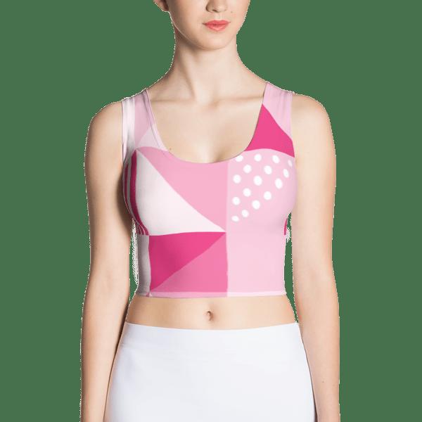 Geometric Pink Crop Top