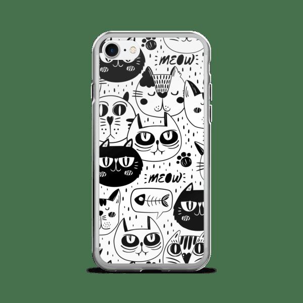 Black Cat Multi Pattern iPhone 7 Case