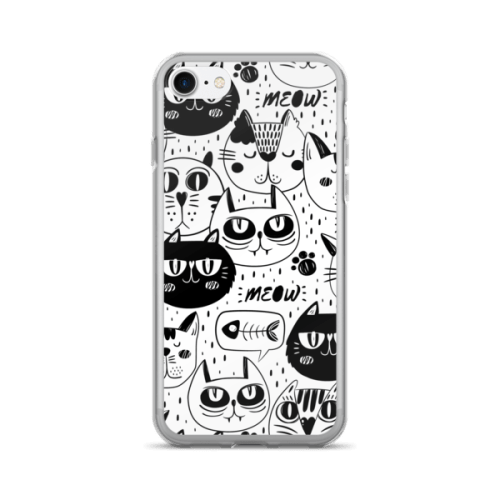 Black Cat Multi Pattern iPhone 7 Case
