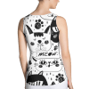 Black and White Cats Multi Pattern Tank Top