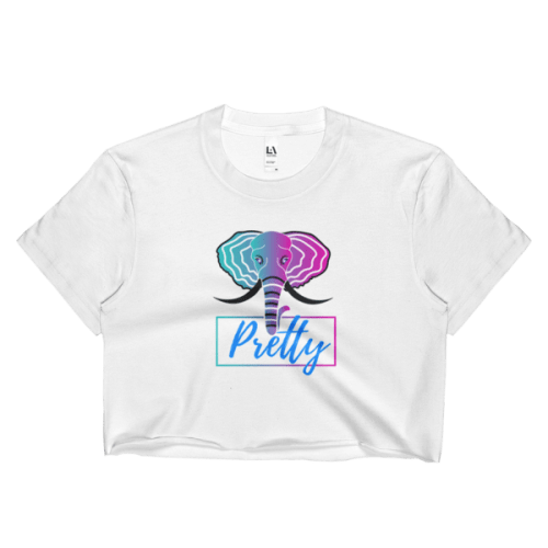 Colorful Elephant Ladies Crop Top