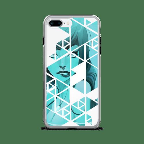 Geometric Blue Rebel Mermaid iPhone 7 Case