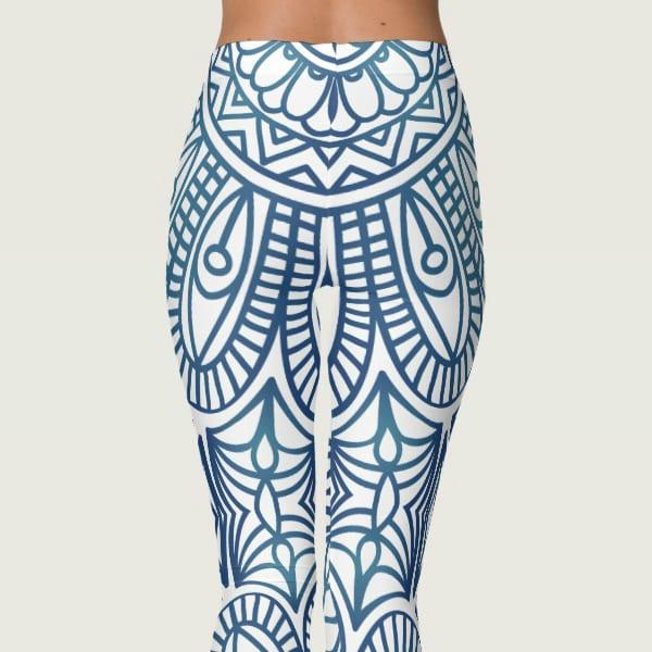 Floral Bohemian Tribal Print Mandala Yoga Leggings