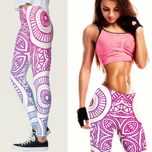 """Captivate Me!"" Gradient Mandela Women's Leggings"