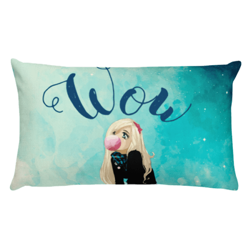 Wow Starry Girl Rectangular Pillow