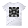 Black and White Floral Butterfly Women's t-shirt