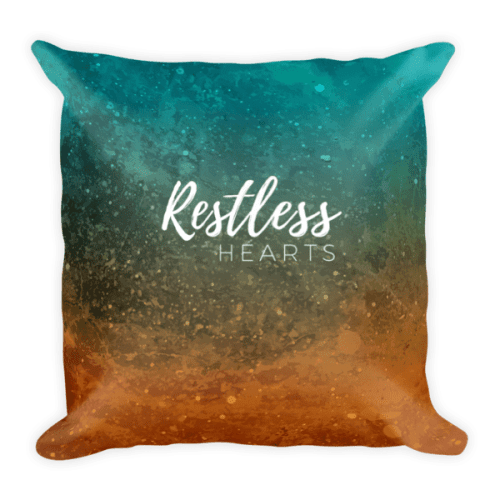 Restless Hearts Square Pillow