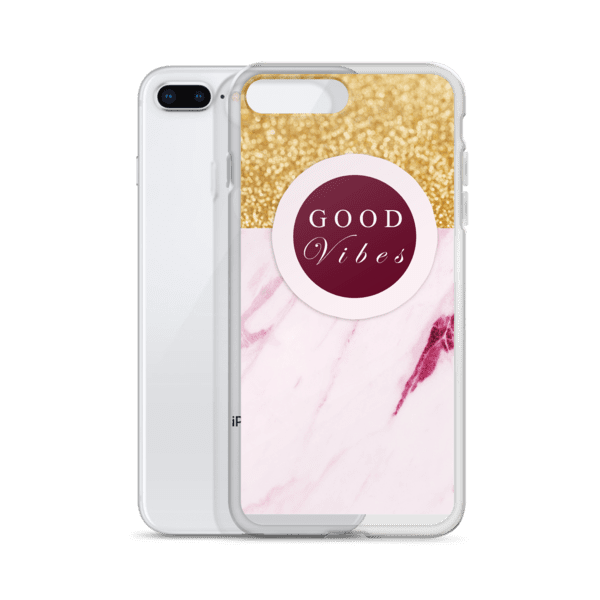 Golden Marble Good Vibes iPhone 5/6/7/8/X Case