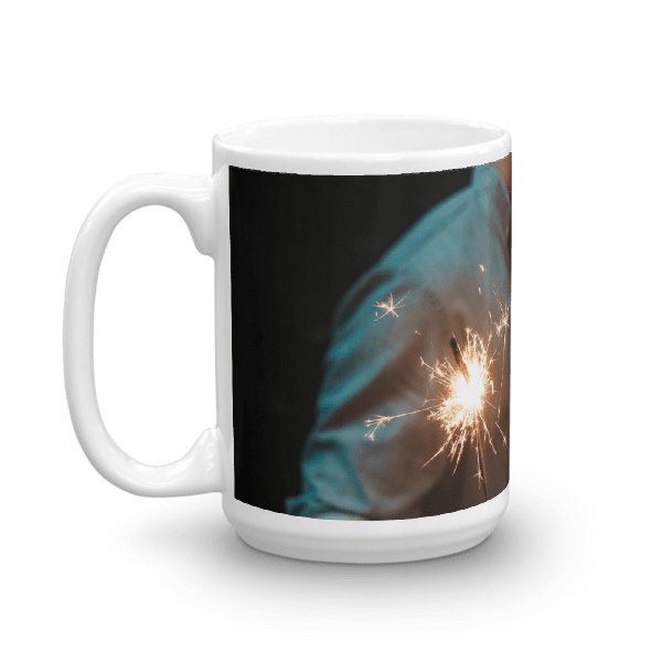 Couple's Kiss Fireworks Mug