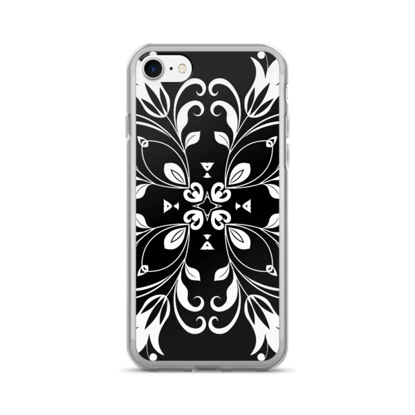 Black and White Floral Butterfly iPhone 7/7 Plus Case